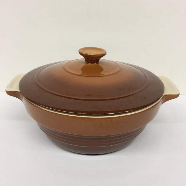 Mid-Century Modern Olive & Thyme Stoneware Casserole Dish For Sale - Image 3 of 11