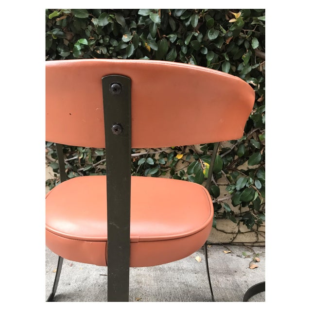 Grapefruit Pink Chairs - A Pair - Image 10 of 10
