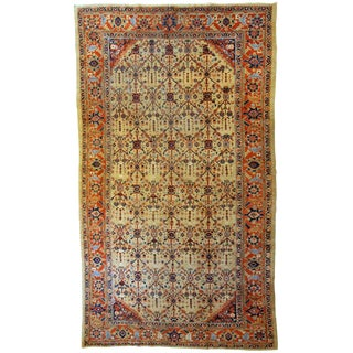 1900s Handmade Antique Persian Mahal Rug 6.1' X 11.7' For Sale