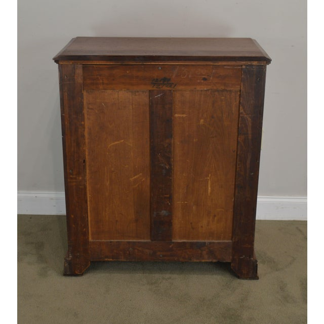 Late 19th Century Antique Victorian Walnut Eastlake 4 Drawer Lock - Side High Chest For Sale - Image 5 of 12