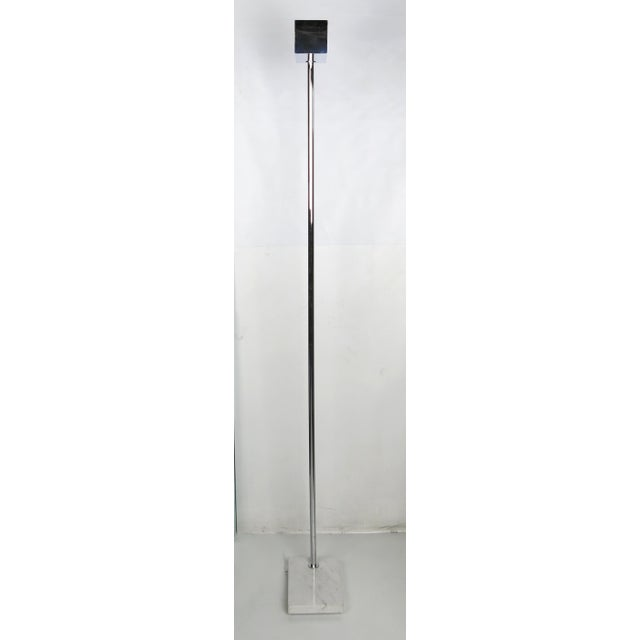 Mid-Century Modern Mod 1970s Chrome and Marble Torchere by Casella For Sale - Image 3 of 6