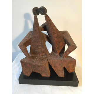 1950s Brutalist Sculpture of Two Men by Margot Kempe Preview