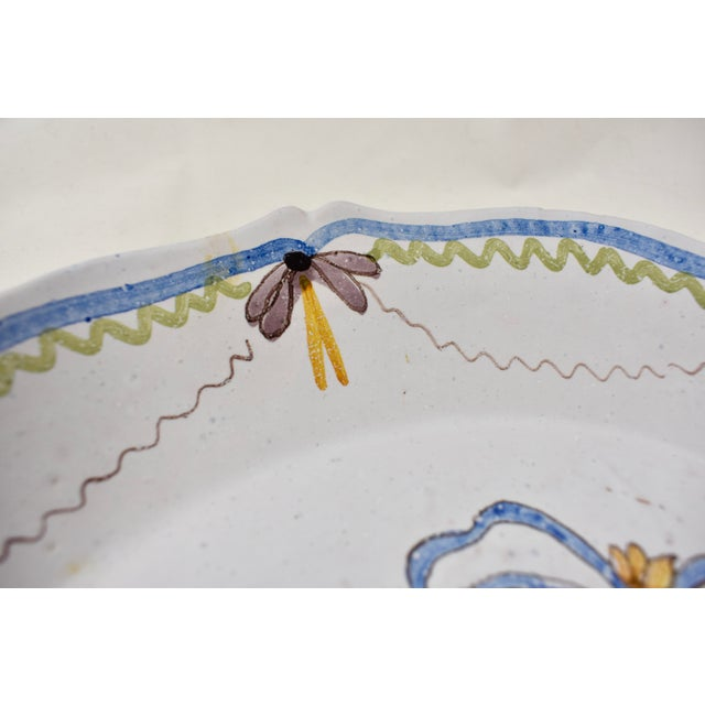 18th C. Nevers French Revolution Tin-Glazed Dish, L'équité For Sale - Image 4 of 8