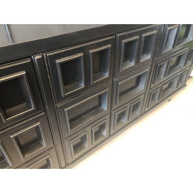 Black Mid-Century Black Nine Drawer Dresser For Sale - Image 8 of 13