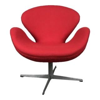 Reupholstered Original Fritz Hansen Swan Chair by Arne Jacobsen For Sale
