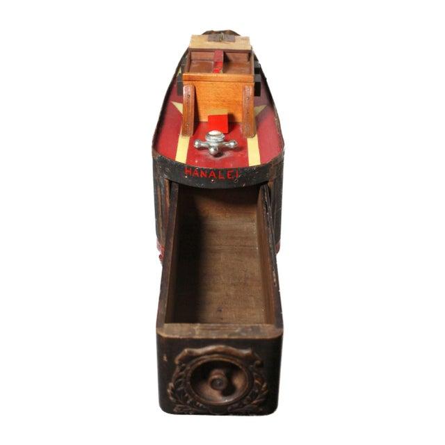 "Large Handmade Tramp Art Hawaiian ""Toy Ship"" Box For Sale - Image 4 of 9"