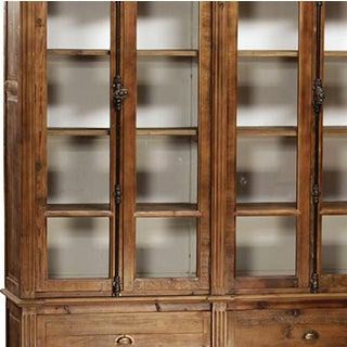 Reclaimed Wood Glass Door Cabinet Preview