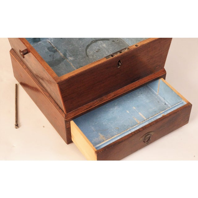 Circa 1820 English Georgian Style Mahogany and Satinwood Casket For Sale - Image 4 of 12