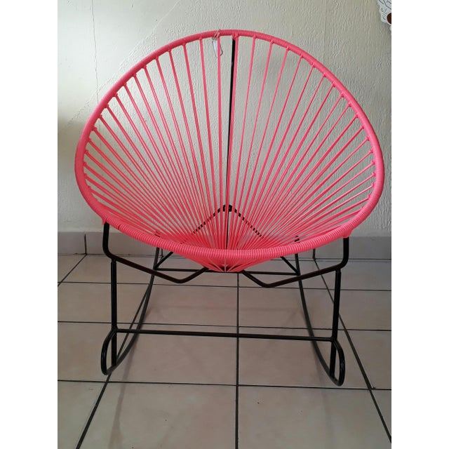 Pink Woven Acapulco Rocking Chair - Image 3 of 3
