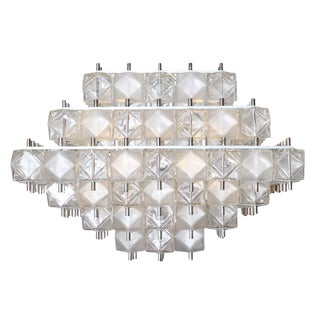 Murano Glass Cubist Chandelier For Sale