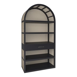 Leila Etagere Bookcase - Black Iron For Sale