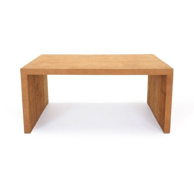 Very rare Frank Gehry designed desk made of corrugated cardboard and Masonite.