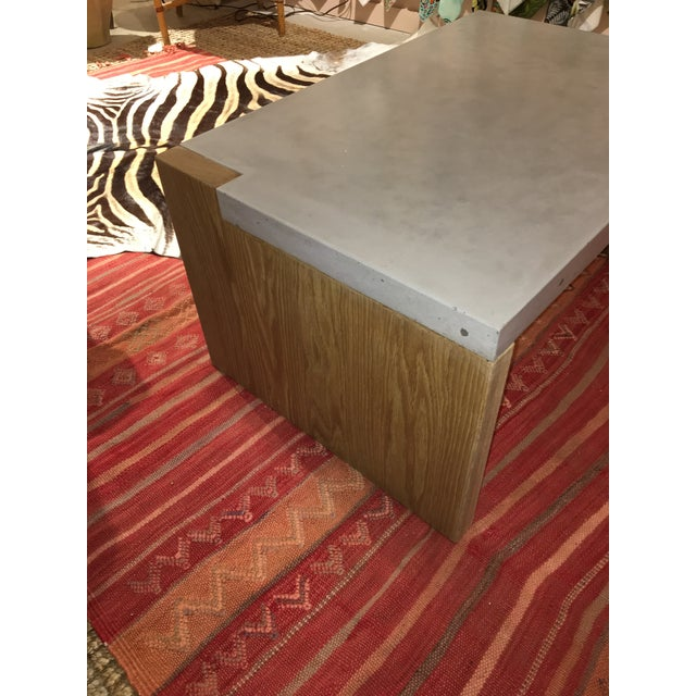 2010s Concrete Top Coffee Table For Sale - Image 5 of 8