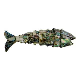 Vintage Abalone Tile Bottle Opener For Sale