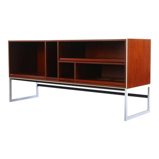 1980s Danish Modern Bang & Olufsen Rosewood Credenza With Sled Legs For Sale