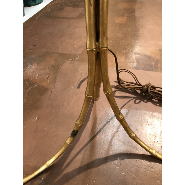 Gold Gilt Metal Bamboo Floor Lamp by Circa Lighting For Sale - Image 8 of 13