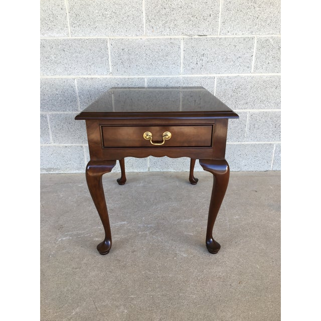 Stickley Cherry Valley Queen Anne Style Side Table For Sale - Image 9 of 9