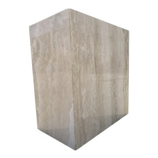 Postmodern Monolithic Travertine Dining Table Base by Stone International For Sale