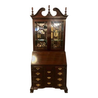 Pennsylvania House Secretary Desk / Bookcase in the Chippendale Style For Sale