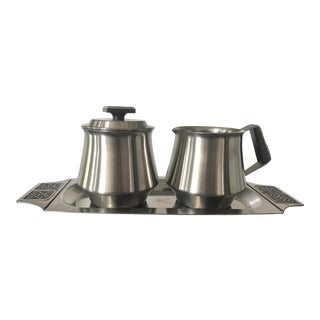 Danish Modern Rogers Insilco Coffee & Tea Service - Set of 3 For Sale