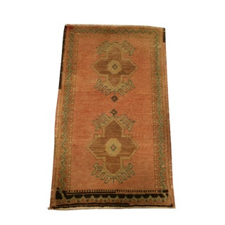 Small Vintage Turkish Area Rug