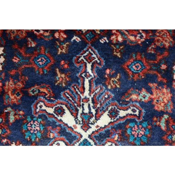 Hand Knotted Persian Mahal Runner - 3′10″ × 10′4″ - Image 9 of 11