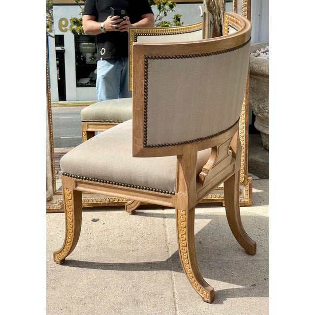 1990s Quatrain by Dessin Fournir Swedish Neoclassical Style Side Chair For Sale - Image 5 of 7