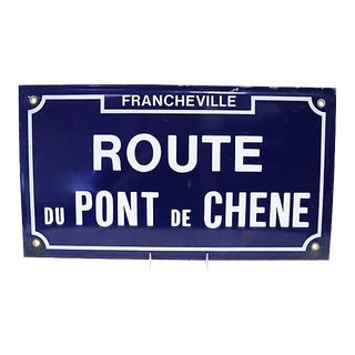 French Enamel Street Sign (Oak Bridge)