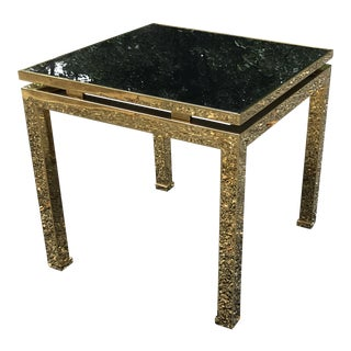 1970s French Maison Jansen Brass Occasional Table For Sale