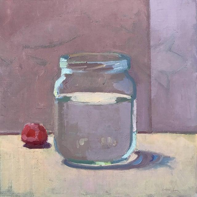 Jar and Raspberry Original Oil Painting - Image 1 of 2