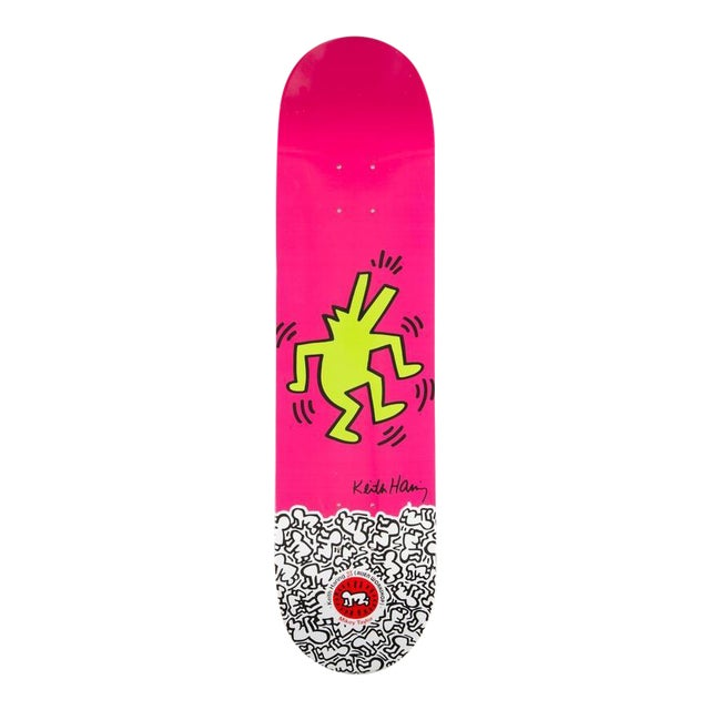Limited Edition Keith Haring Skate Deck 2012 For Sale
