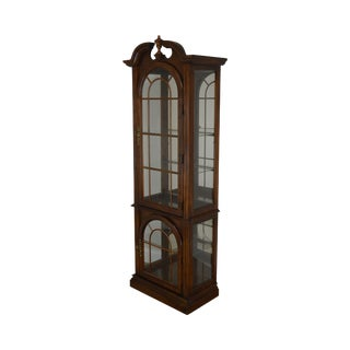Pulaski Cherry Narrow Display Curio Cabinet For Sale