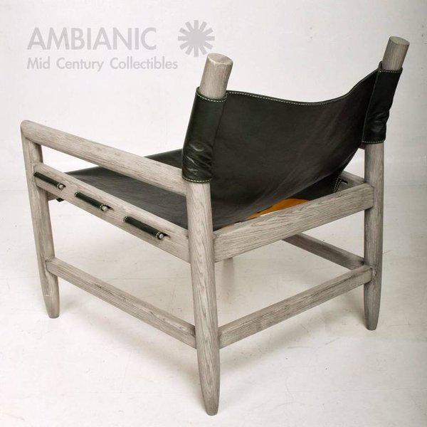 Animal Skin Mid-Century Modern Pair of Safari Lounge Chairs For Sale - Image 7 of 7
