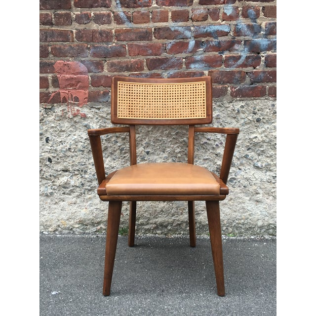 Mid-Century Changebak Cane & Wood Accent Chair - Image 3 of 7