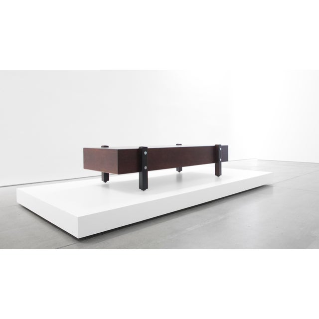 Jacobean Sergio Rodrigues for Aros, Eleh Rosewood Bench C. 1965 For Sale - Image 3 of 5