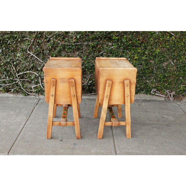 Rancho Monterey Side Tables - A Pair For Sale - Image 4 of 10
