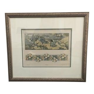 Antique Habert-Dys 'Fantasies Decoratives' Chromolithograph