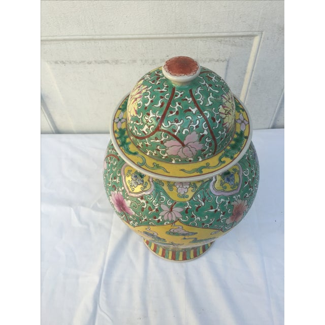 Chinese Chinoiserie Colorful Dragon Ginger Jar - Image 4 of 9
