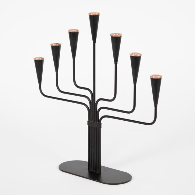 1960s Pair of Gunnar Andersen for Ystad-Metall Candelabrum Circa 1960s For Sale - Image 5 of 10