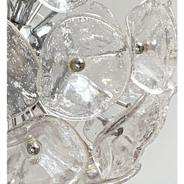"20"" Fiori Murano Glass Pendant Orb Ceiling Light For Sale - Image 4 of 11"