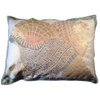 Shells Sateen Linen Pillow For Sale