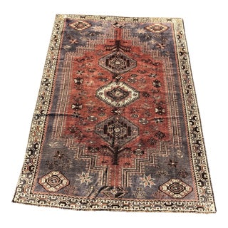 1940s Vintage Persian Shiraz Rug -5′10″ × 8′6″ For Sale