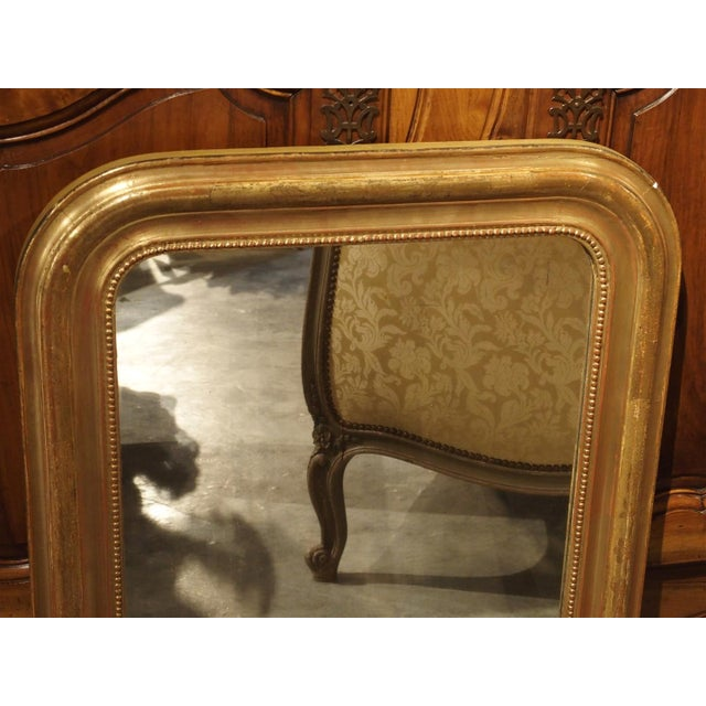 Wood 19th Century French Louis Philippe Giltwood Mirror For Sale - Image 7 of 11