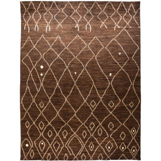 Brown Moroccan Tribal Rug For Sale