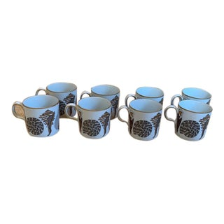 Neiman Marcus by Fitz and Floyd Shells Demitasse/Espresso Cups - Set of 8 For Sale