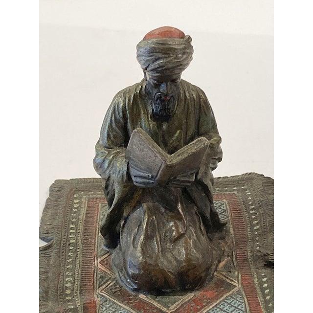 Figurative Franz Bergman Austrian Bronze Reading Figure For Sale - Image 3 of 8