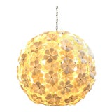Image of Fabulous Murano Glass and Brass Flower Chandelier For Sale