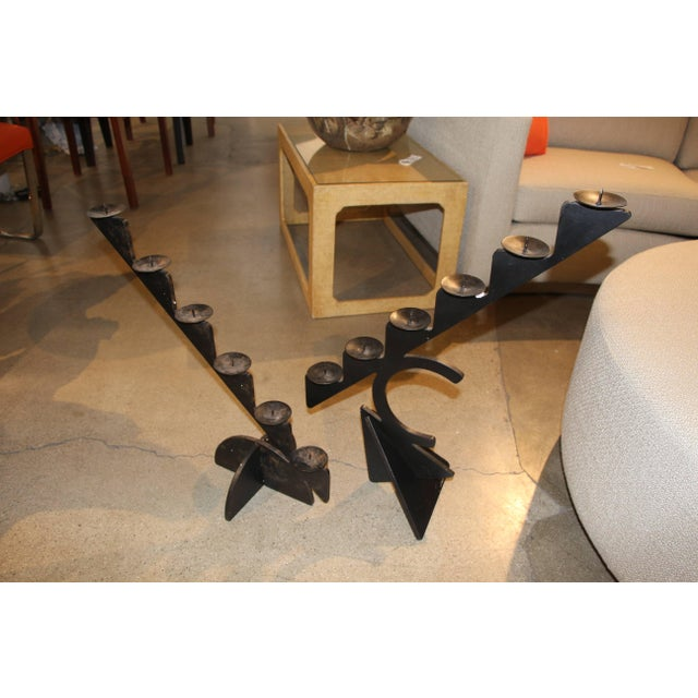 1987 Pucci De Rossi Iron Candle Holders for H. Stuart Dolin- A Pair For Sale - Image 9 of 9