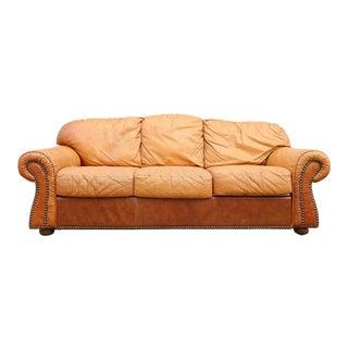 Original 1970s Italian Crocodile Leather Sofa For Sale