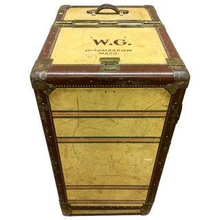 Hartmann Saks Fifth Avenue Logo Steamer Trunk Wardrobe Art Deco Dresser Luggage For Sale